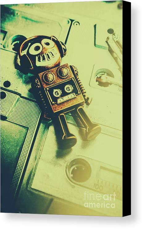 Funky Mixtape Robot Canvas Print / Canvas Art by Jorgo Photography ...