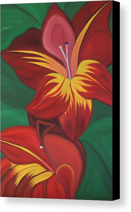 Marinella Owens Canvas Print featuring the painting Gandavenis Hybrid No.2 by Marinella Owens