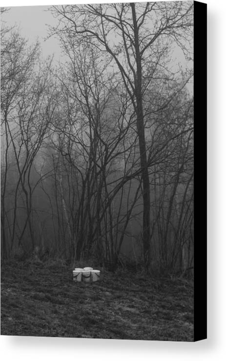 Canvas Print featuring the photograph Garbage by Terezie Kosikova