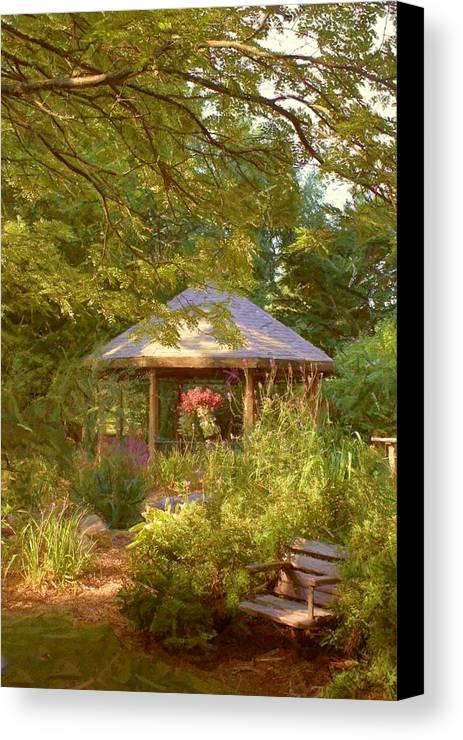 Garden Canvas Print featuring the photograph Garden Gazebo by Jim Darnall