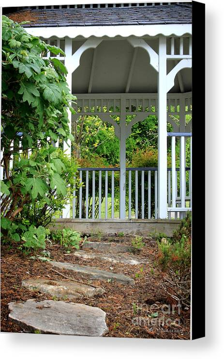 Landscape Canvas Print featuring the photograph Garden Path And Gazebo by Todd Blanchard