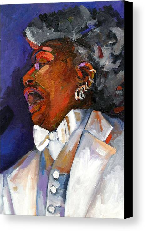Portrait Canvas Print featuring the painting Gaye Adegbalola by Jackie Merritt