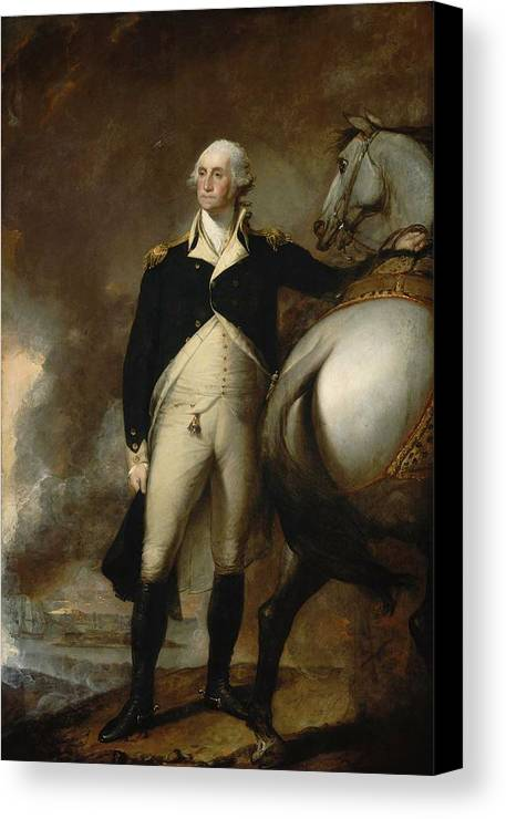 George Washington At Dorchester Heights Canvas Print featuring the painting Gilbert Stuart by George Washington