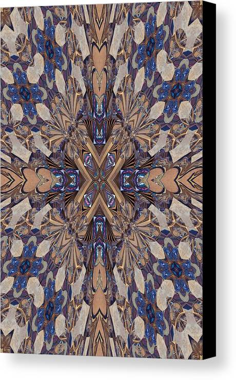 Arch Canvas Print featuring the photograph Gold And Blue by Ricky Kendall