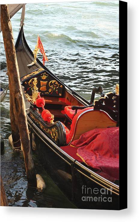 Venice Canvas Print featuring the photograph Gondola In Venice by Michael Henderson