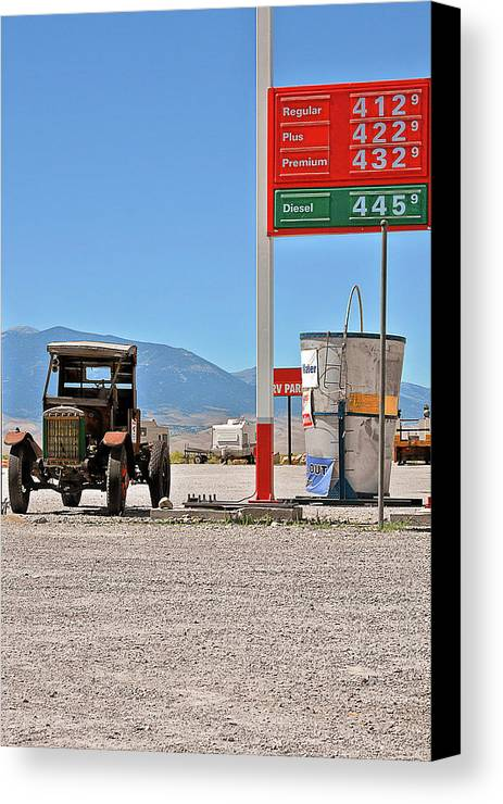Death Valley National Park Canvas Print featuring the photograph Good Bye Death Valley - The End Of The Desert by Christine Till