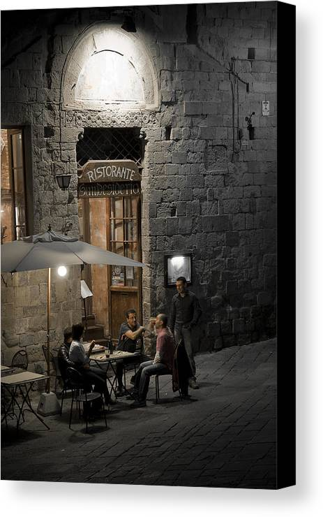 City Canvas Print featuring the photograph Good Food - Good Company by Carl Jackson