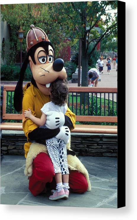 Disney Canvas Print featuring the photograph Goofy Love by Carl Purcell