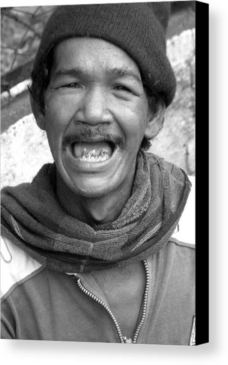 Jez C Self Canvas Print featuring the photograph Grin And Bare It by Jez C Self