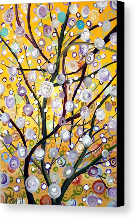 Landscape Canvas Print featuring the painting Growing Together by Luiza Vizoli