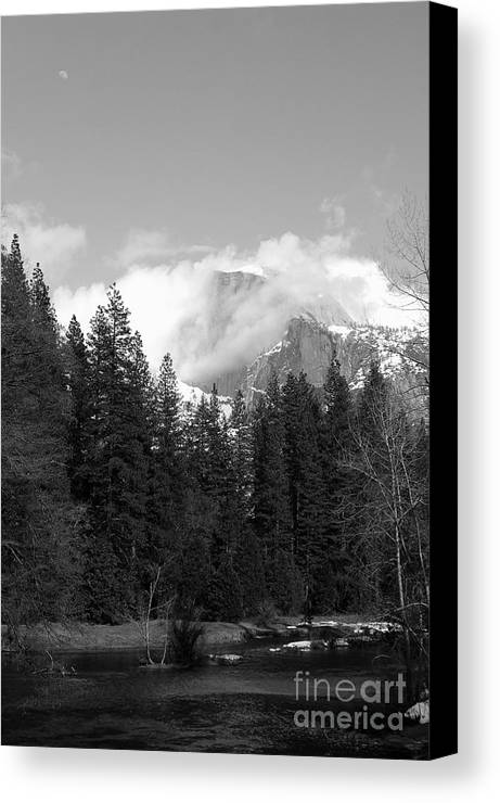 Landscape Canvas Print featuring the photograph Half Dome From Sentinal Bridge by Richard Verkuyl