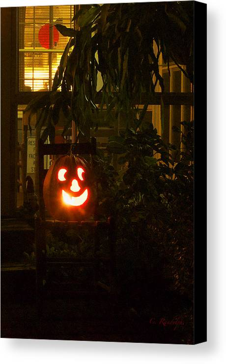 Jack O Lantern Canvas Print featuring the photograph Halloween Beacon by Cheri Randolph