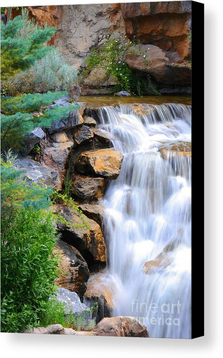 Waterfall Canvas Print featuring the photograph Hammer's Cascade by Dennis Hammer