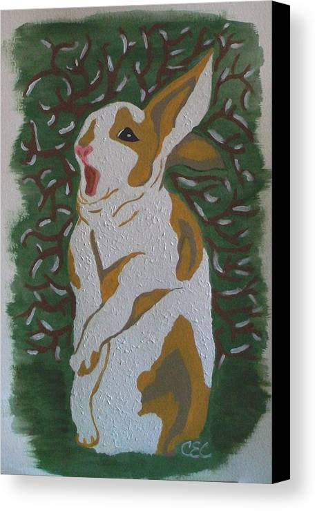 Hare Canvas Print featuring the painting Hare by Carolyn Cable