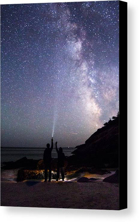 Milky Way Canvas Print featuring the photograph Hello by Mary Swann