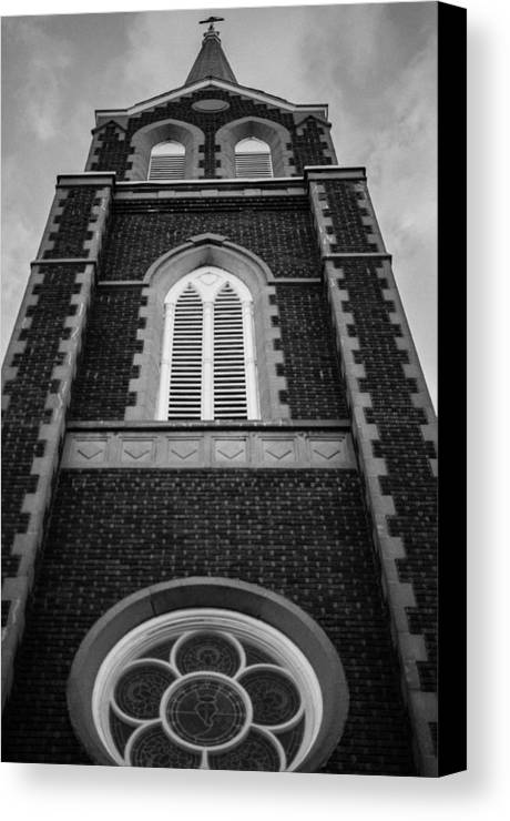 Abbey Canvas Print featuring the photograph He's Always Watching by Robert Michaud