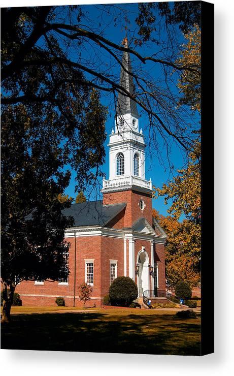 Church Canvas Print featuring the photograph Hidden Chapel by Steve Parrott