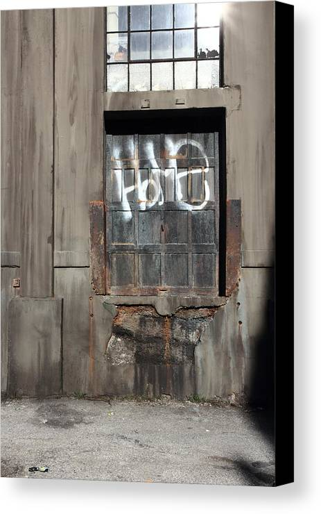 Metal Canvas Print featuring the photograph home door II by Kreddible Trout