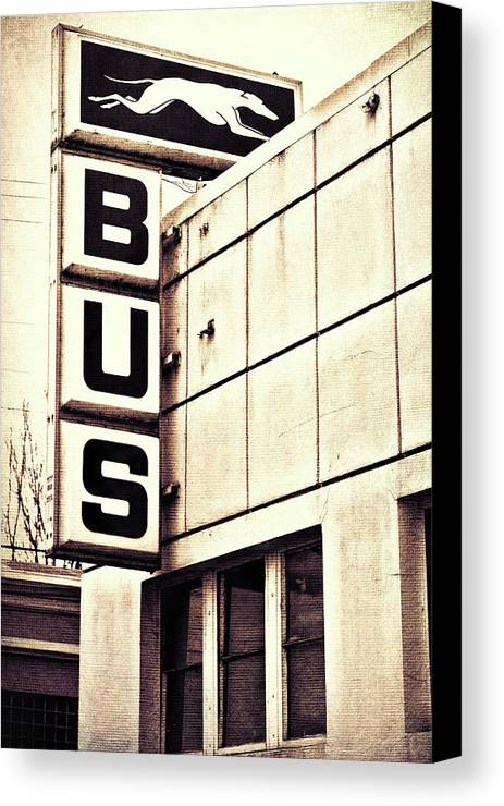 Bus Canvas Print featuring the photograph Hop On by Kristen Wilcox