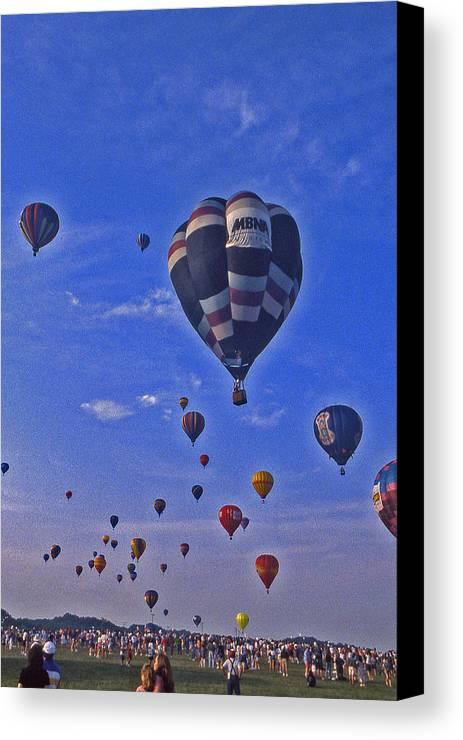 Hot Air Balloon Canvas Print featuring the photograph Hot Air Balloon - 14 by Randy Muir