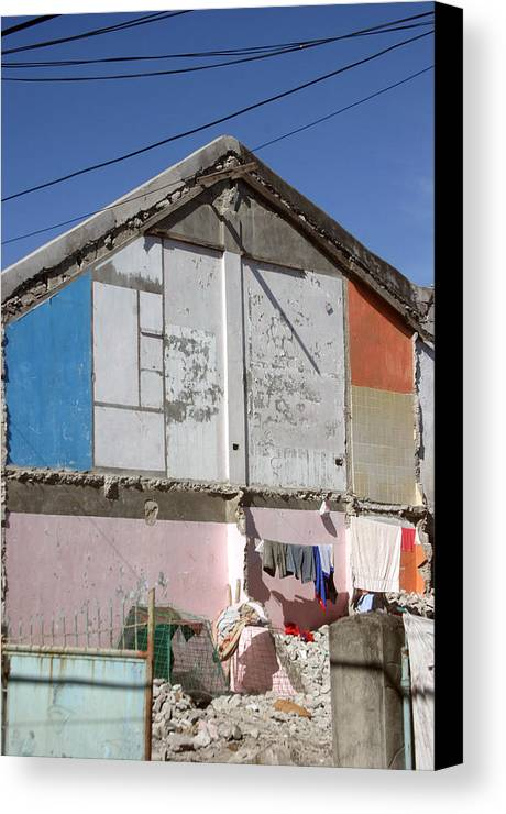 Photographer Canvas Print featuring the photograph Housing 2 by Jez C Self