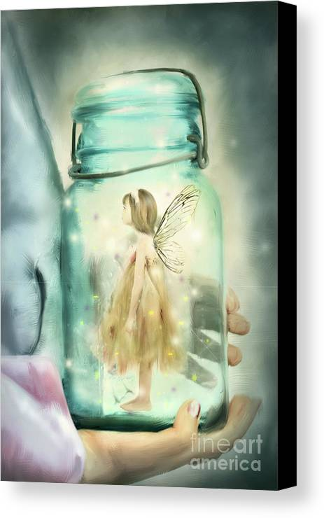 Fairy Canvas Print featuring the photograph I Believe by Stephanie Frey