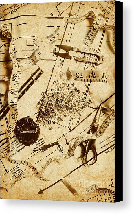In Fashion Of Vintage Sewing Canvas Print / Canvas Art by Jorgo ...
