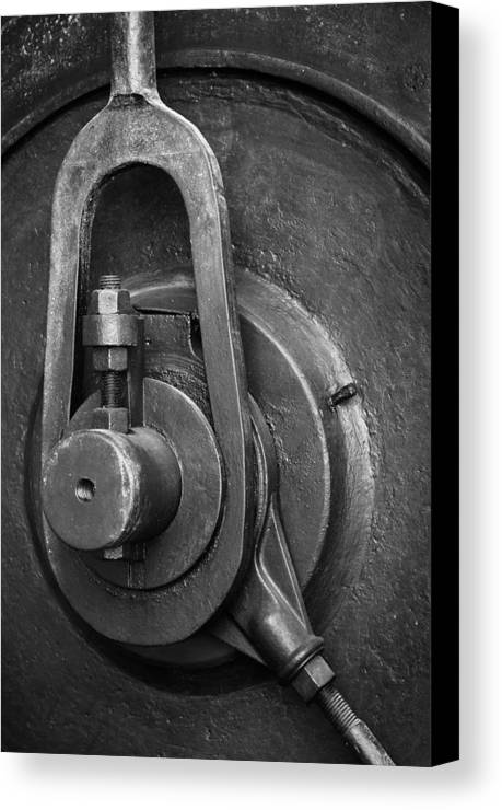 Abandoned Canvas Print featuring the photograph Industrial Detail by Carlos Caetano