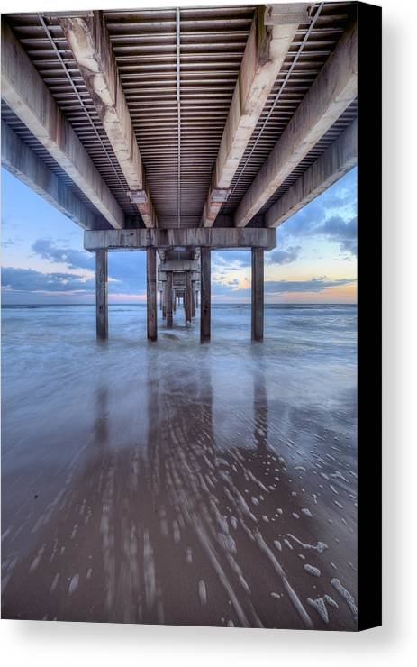 Gulf Shores Canvas Print featuring the photograph Into The Gulf At Orange Beach by JC Findley