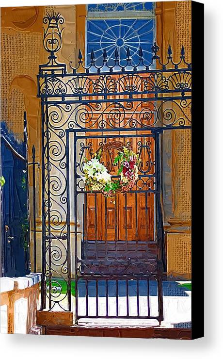 Church Canvas Print featuring the photograph Iron Gate by Donna Bentley