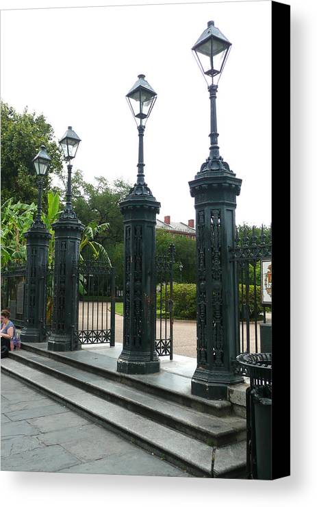 Jackson Square Canvas Print featuring the photograph Jackson Square by Kathy Schumann