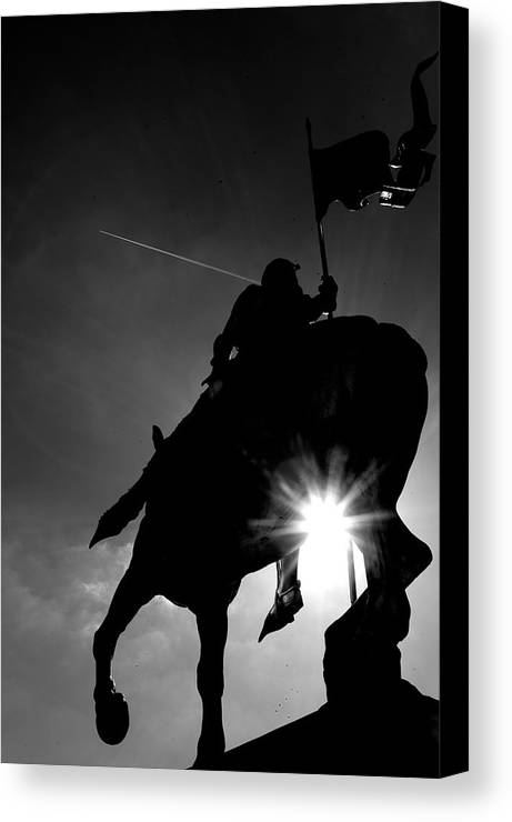 Joan Of Arcs Statue Canvas Print featuring the photograph Joan Of Arcs Statue by Win Naing