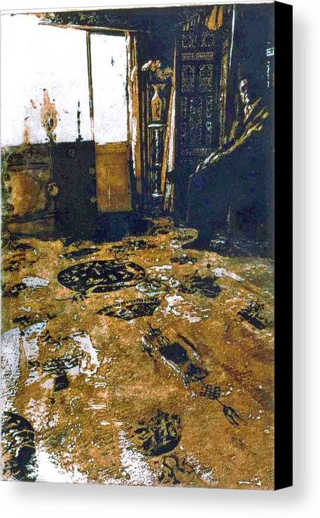 Oriental Canvas Print featuring the mixed media Joes Rug by Randy Sprout