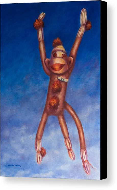 Children Canvas Print featuring the painting Jump For Joy by Shannon Grissom