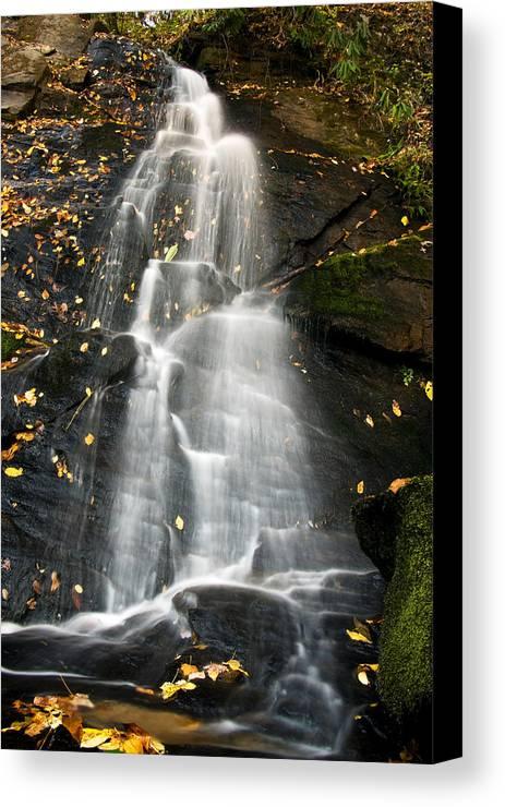 Waterfall Canvas Print featuring the photograph Juney Whank Falls by Bob Decker