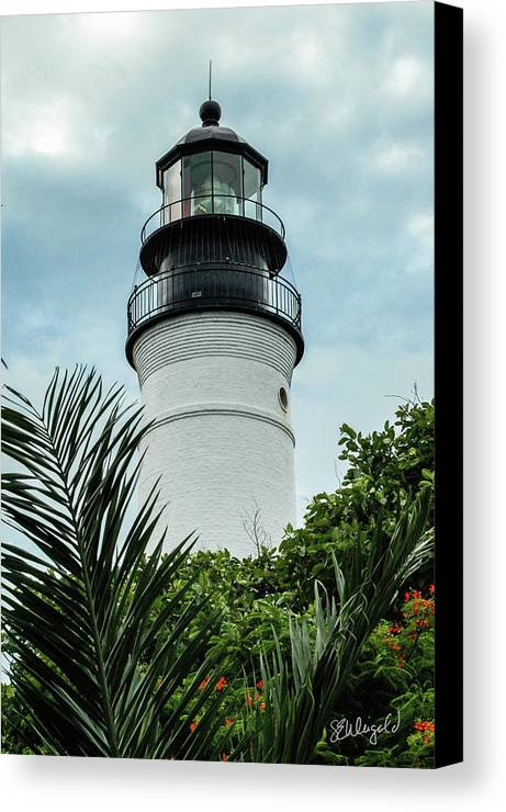 Lighthouse Canvas Print featuring the photograph Key West Light by Steve Weigold