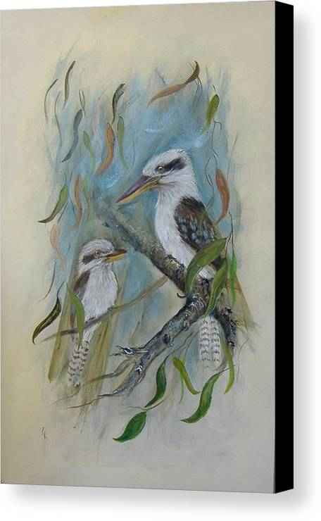 Birds Canvas Print featuring the painting King Of The Woods by Rita Palm