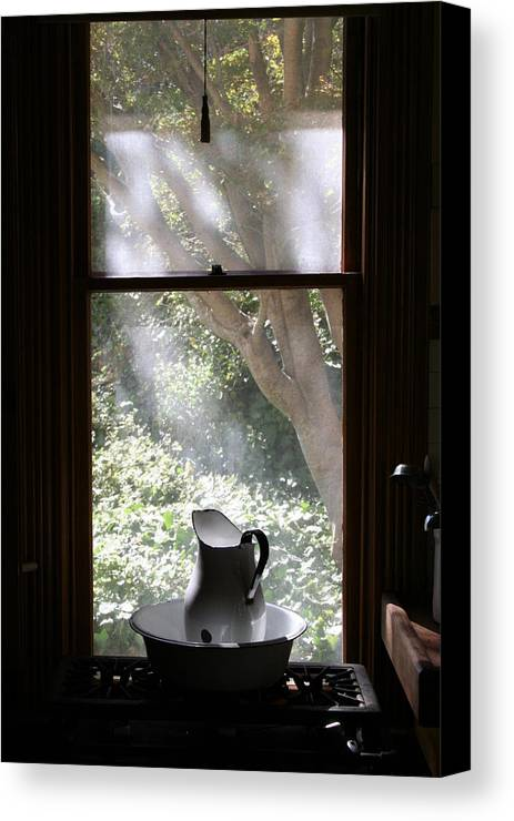 Still Life Canvas Print featuring the photograph Kitchen Window by Brande Barrett