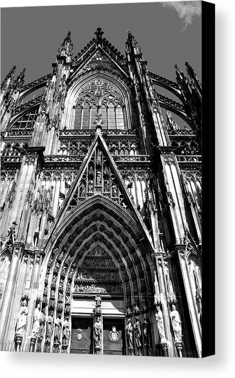 Cathedral Canvas Print featuring the photograph Koln - Dom by Noah Cole