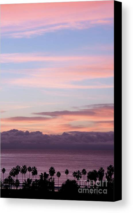 Nature Canvas Print featuring the photograph La Jolla Shores In California by Julia Hiebaum