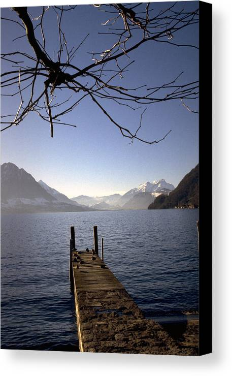 Lake Lucerne Canvas Print featuring the photograph Lake Lucerne by Flavia Westerwelle