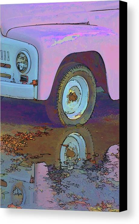 Vehicles Canvas Print featuring the photograph Lavender Reflections by Jan Amiss Photography