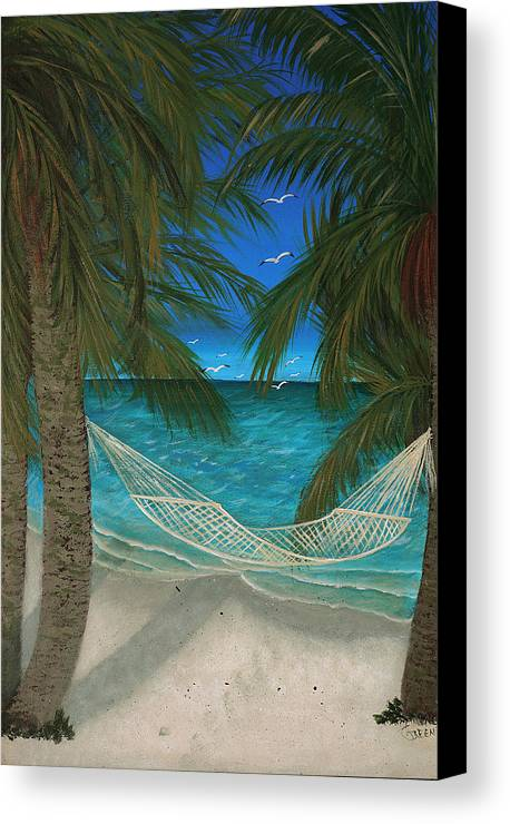 Hammock Canvas Print featuring the painting Lazy Days Of Summer by Darlene Green