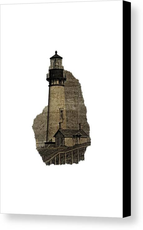 Newport Canvas Print featuring the photograph Lighthouse Of Old by Image Takers Photography LLC - Laura Morgan