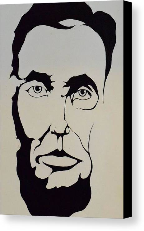 Black And White Canvas Print featuring the photograph Lincoln by Eleni Salony