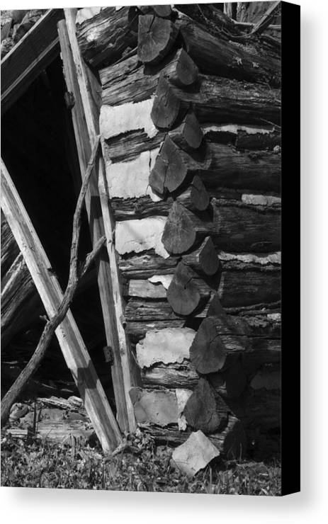 Canvas Print featuring the photograph lloyd-shanks-barn-3BW by Curtis J Neeley Jr