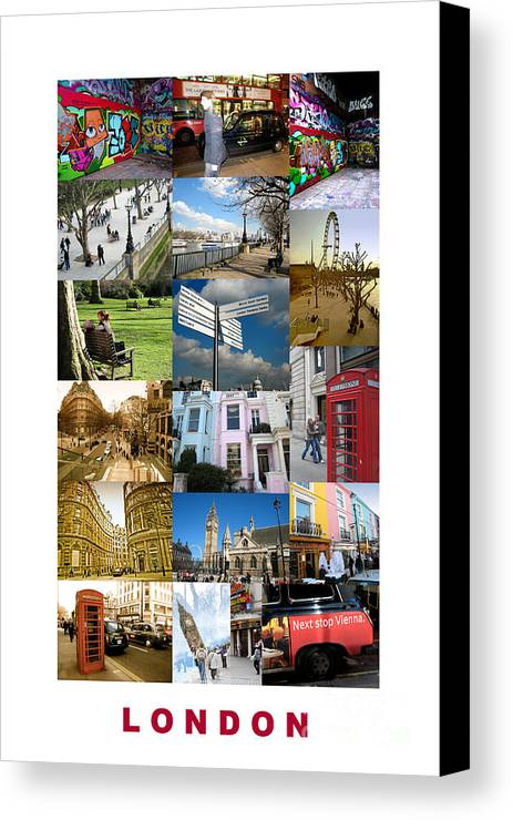 London Canvas Print featuring the photograph London by Madeline Ellis
