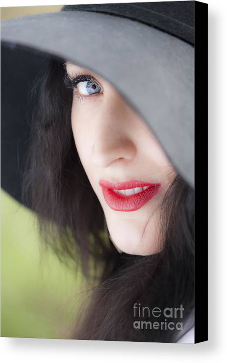 Woman Canvas Print featuring the photograph Look by Lasse Ansaharju