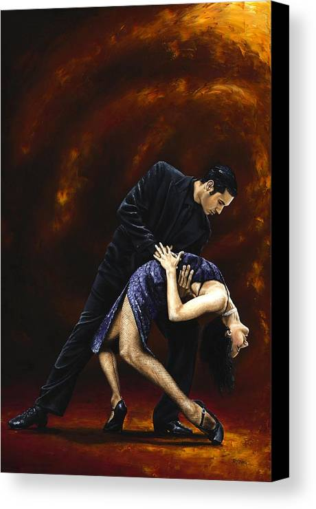 Tango Canvas Print featuring the painting Lost In Tango by Richard Young