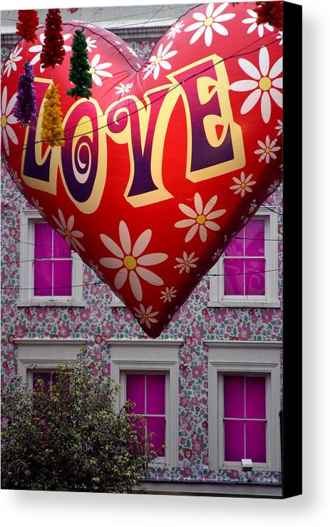 Jez C Self Canvas Print featuring the photograph Love Above by Jez C Self